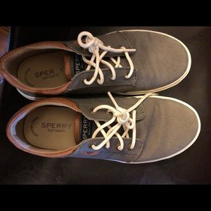 Boys size 5 tan Sperry's
